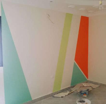 Mrs. Samar's Appartment :  غرفة الاطفال تنفيذ Etihad Constructio & Decor