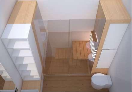 Saunas de estilo  por Simone Fratta Architetto