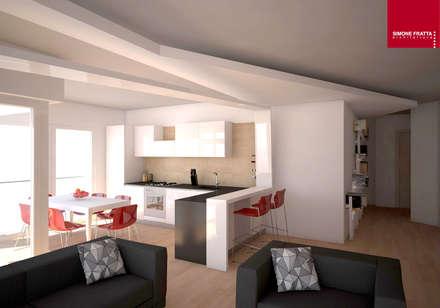 Cucina aperta: Cucina attrezzata in stile  di Simone Fratta Architetto