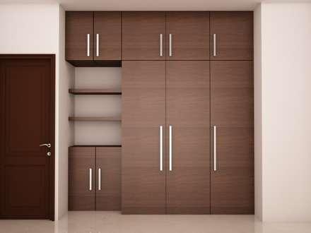 Wardrobe : modern Bedroom by NVT Quality Build solution