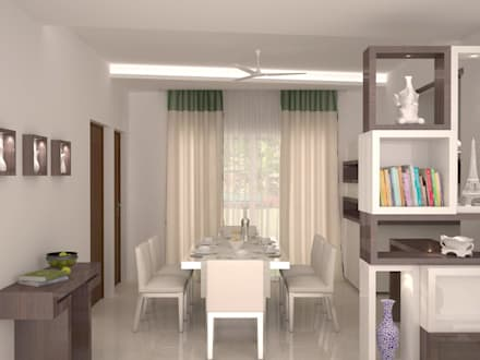 Dining area : modern Dining room by NVT Quality Build solution