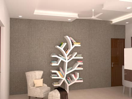 Reading area - Book shelf : modern Study/office by NVT Quality Build solution