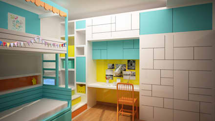 Kids colorful but simple room : modern Nursery/kid's room by NVT Quality Build solution