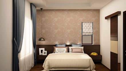 Bed with side unit and Headboard : country Bedroom by NVT Quality Build solution
