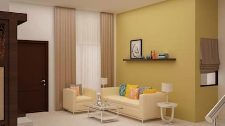 interior wall designs for living room. VK  Mr Kiran Modern Living Room By NVT Quality Build Solution Room Design Ideas Interiors Pictures Homify