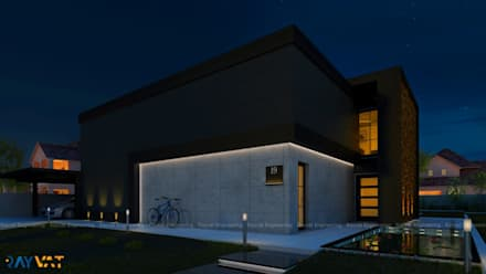 Exterior Designs - Night:  Bungalow by Rayvat Engineering