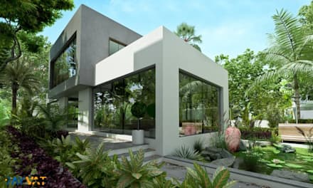 Bungalows de estilo  por Rayvat Engineering