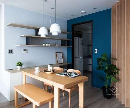 Comedores de estilo minimalista por 極簡室內設計