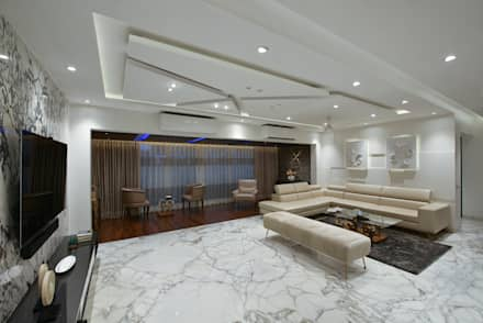 LIVING ROOM: minimalistic Living room by Ar. Milind Pai