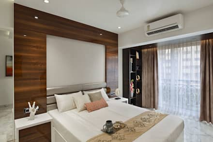MASTER BEDROOM: minimalistic Bedroom by Ar. Milind Pai