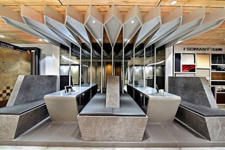 SOMANY EXPERIENCE CENTER:  Offices & stores by Ar. Milind Pai