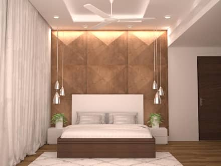 headboard style modern bedroom by nvt quality build solution - Bedroom Interior Design Ideas