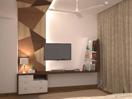 TV unit and chest of drawers : mediterranean Bedroom by NVT Quality Build solution
