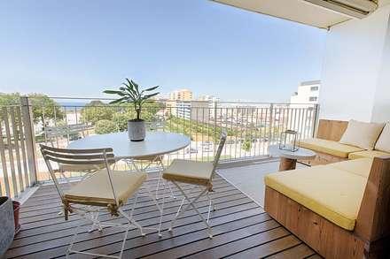 Apartamento Edifício do Parque - T4 MATOSINHOS: Terraços  por SHI Studio, Sheila Moura Azevedo Interior Design