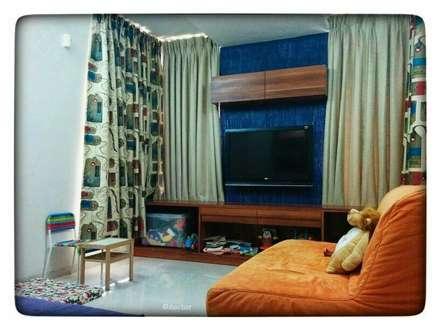 rustic Nursery/kid's room by GREEN HAT STUDIO PVT LTD