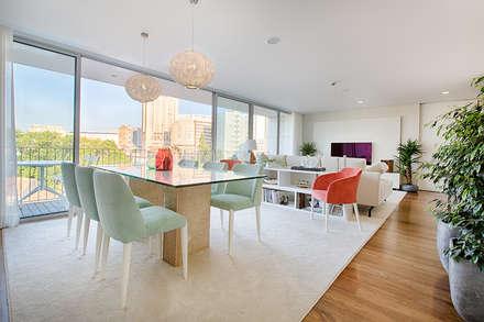 Apartamento T2 Condomínio fechado - V. N. Gaia: Salas de jantar escandinavas por SHI Studio, Sheila Moura Azevedo Interior Design