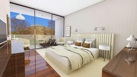 Edifício de luxo 'Douro Crystal Gardens' - 28 Apartamentos, Palácio de Cristal - PORTO: Quartos escandinavos por SHI Studio, Sheila Moura Azevedo Interior Design
