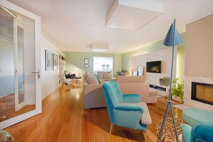 Apartamento Edifício do Parque - T3 MATOSINHOS: Salas de estar escandinavas por SHI Studio, Sheila Moura Azevedo Interior Design