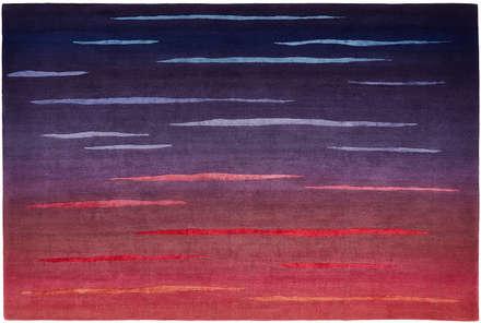 Deirdre Dyson DUSK hand knotted wool & silk rug:  Floors by Deirdre Dyson LLP