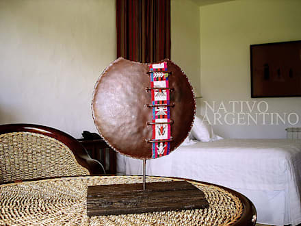 Decoración de espacios: Dormitorios de estilo rural por Nativo Argentino