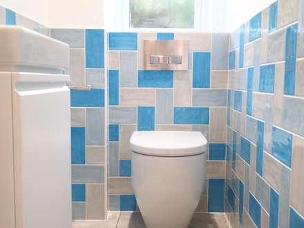 Funky Cloackroom: eclectic Bathroom by DeVal Bathrooms