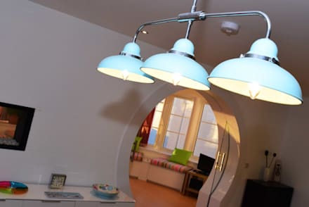 Ceiling light: eclectic Dining room by Roundhouse Architecture Ltd