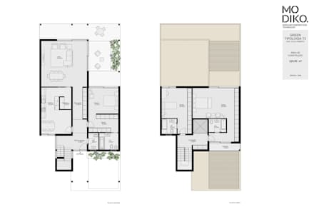 Casas ecológicas de estilo  de Evomod - Construções Modulares