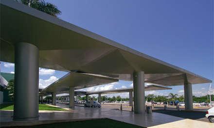 Techos planos de estilo  por Duarte Aznar Arquitectos