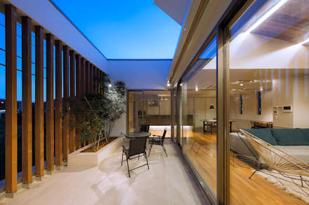 I6-HOUSE「HOUSE WITH SUNLIGHT THROUGH THE LEAVES OF TREES」: Architect Show co.,Ltdが手掛けた庭です。