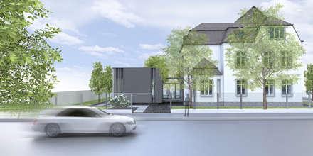 Sanierung eines Geschäftshauses und Anbau eines Sitzungssaales: Visualisierung:  Bürogebäude von Berghaus und Michalowicz GmbH