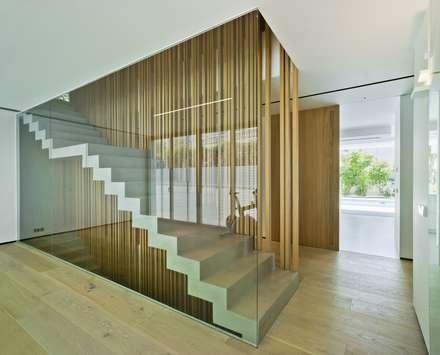 Vivienda ZüV: Escaleras de estilo  de Tomás Amat Estudio de Arquitectura