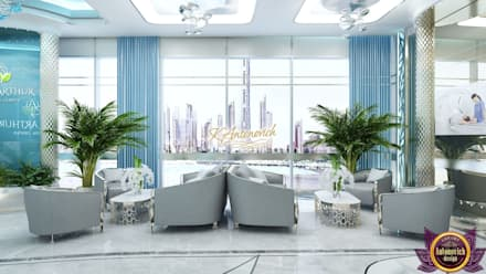 ​Office design concepts by Katrina Antonovich: modern Study/office by Luxury Antonovich Design