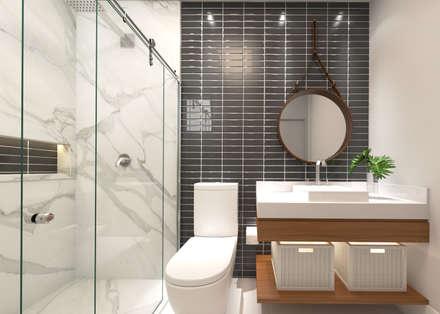 حمام تنفيذ Daniela Andrade Arquitetura