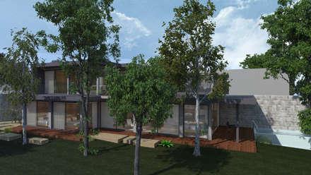 Casa no Minho (nascente) - GERÊS: Moradias  por SHI Studio, Sheila Moura Azevedo Interior Design