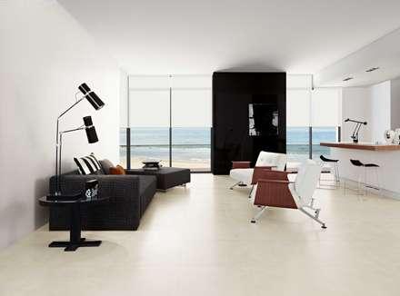 Wonder: Salas de estar industriais por Love Tiles