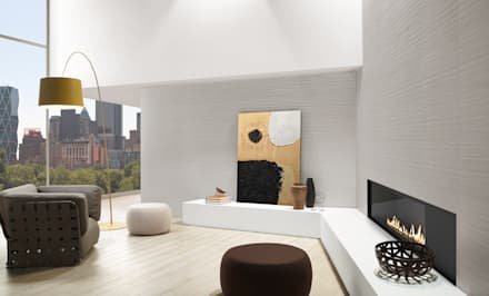 Loft: Salas de estar industriais por Love Tiles