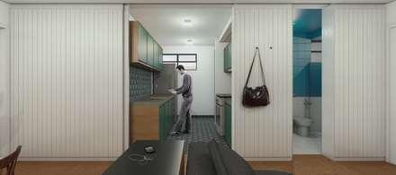 Apartamento Anchieta: Cozinhas minimalistas por Bernardo Horta Arquiteto