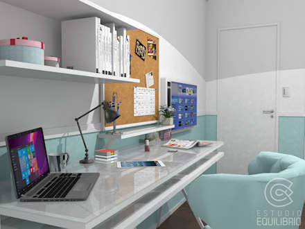 Proyecto Habitación Florencia: Dormitorios de estilo clásico por Estudio Equilibrio