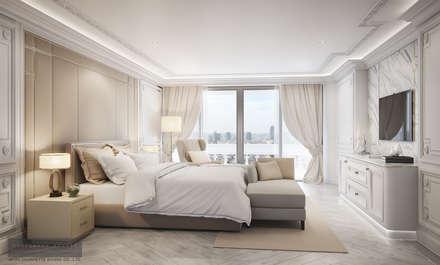 Master Bedroom:  ห้องนอน by Charrette Studio Co., Ltd.