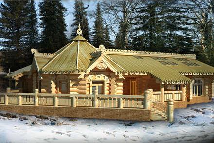 Фасад Бани: Деревянные дома в . Автор – Iv-Eugenie