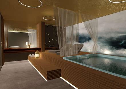 spa-vasca idromassaggio: Spa in stile in stile Moderno di Giemmecontract srl.