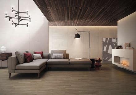 Essentia: Salas de estar industriais por Love Tiles