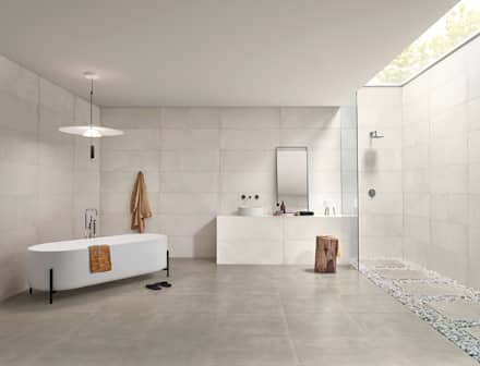 Core: Casas de banho industriais por Love Tiles
