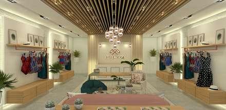 PILYQ DESIGN GUIDE   Espacio Large: Espacios comerciales de estilo  por C   C INTERIOR ARCHITECTURE