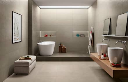 Splash: Casas de banho industriais por Love Tiles