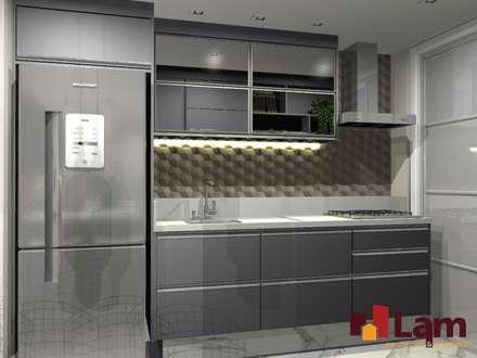 Apto. Pq. São Domingos : Cozinhas modernas por LAM Arquitetura | Interiores