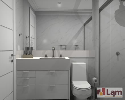 Apto. Vereda Reserva V: Banheiros modernos por LAM Arquitetura | Interiores