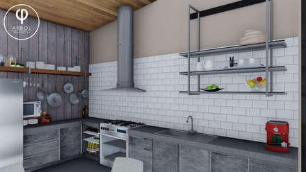 : Cocinas de estilo industrial por ARBOL Arquitectos