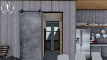 : Pasillos y recibidores de estilo  por ARBOL Arquitectos