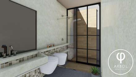 : Baños de estilo industrial por ARBOL Arquitectos